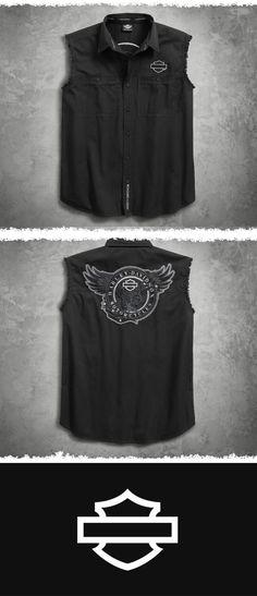 Retro…vintage…old school. | Harley-Davidson Men's Circle Eagle Blowout