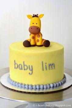Baby shower themes for girls giraffe safari cakes 40 ideas Torta Baby Shower, Regalo Baby Shower, Baby Shower Cake Pops, Fondant Giraffe, Giraffe Cakes, Safari Cakes, Cake Decorating For Kids, Cake Decorating Supplies, Giraffe Birthday Cakes