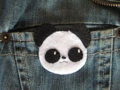 Broche en feutrine broche kawaii broche panda par IbelieveIcanfil