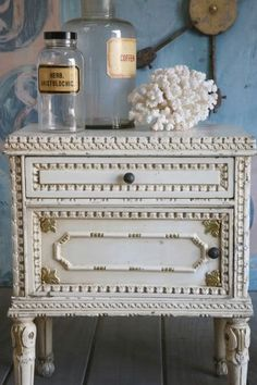 French Garden House, Vintage Night Stands