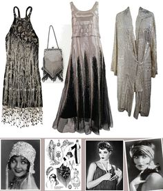 Roaring Twenties and fun loose clothing.