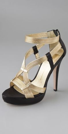 Lance Platform Sandals - these are hot High Ankle Boots, Shoes Heels Boots, Crazy Shoes, Me Too Shoes, Beautiful High Heels, Sneaker Heels, Gold Sandals, Fashion Shoes, Fashion Black