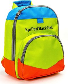 """Original EpiPen® BackPack -- Pre-Order Now! A visual reminder to educators that shouts, """"Hey, I have a food allergy!"""""""