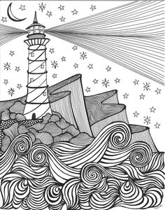 drawing ideas This item is unavailable Leuchtturm am Meer Doodle Art Drawing, Zentangle Drawings, Pencil Art Drawings, Easy Drawings, Art Sketches, Doodles Zentangles, Tattoo Drawings, Doodling Art, Flower Drawings