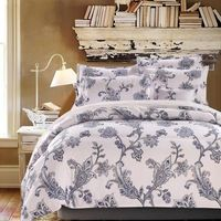 New Elegant Cotton Bedding Set for Fall Winter Floral Duvet Cover Sets King Size Thicken Sanding Ropa de Cama Bed Sheet