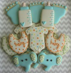 Baby Shower / Welcome Baby Decorated Sugar Cookies