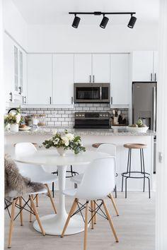 Beautiful White Kitchen Design | Stephanie Sterjovski