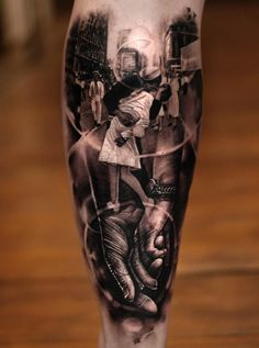 Sailor and nurse kissing in Times Square after the end of the second world war, tattoo by Matthew James.  http://tattooideas247.com/times-square/