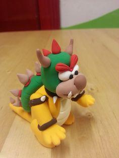 Jumping clay Nintendo bowser