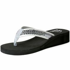 3e9b4b91027d79 Alpine Swiss Women s Wedge Sandals Sequin Thong Flip Flops Platform Heel  Shoes