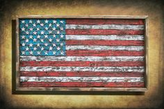 American Flag Framed version  Weathered by ChrisKnightCreations