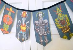 Space Aliens and Monsters bunting banner by decorandcrafts on Etsy, $20.00