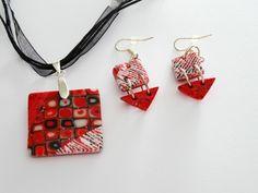Conjunto Klimt Rojo de Entodomemeto por DaWanda.com
