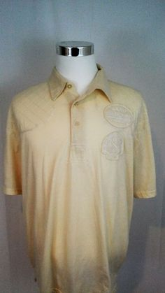 Big and Tall Cream Color Red Ape Mens Shirt Polo Style 3XL Polo Style #RedApeAuthentics