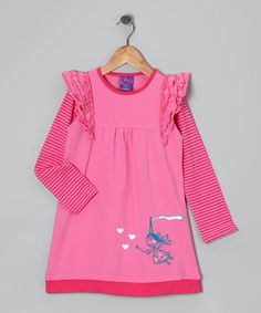 Take a look at this Pink Stripe Princess Dress - Infant, Toddler & Girls by CR Cute on #zulily today!