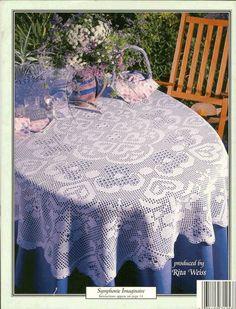 ASN Oval Tablecloths 5 Designs In Filet Crochet