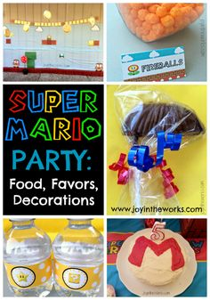 Having a Super Mario Party? Check out all the themed food, favors and decorations!