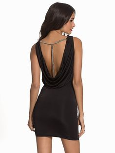 Nelly.com: T - Bar Drape Dress - NLY One - women - Black. New clothes, make - up and accessories every day. Over 800 brands. Unlimited variety.