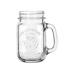 I drink out of a jelly jar just like this.. I love it. Mason jars are great.... mason jars with handles... ahh, they are magical