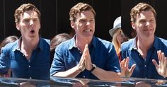 This Is How Benedict Cumberbatch Reacts When He Makes Women Scream---I'd only scream once--then I'd pass out!!!