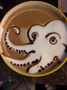 Octopus - Latte art | coffee