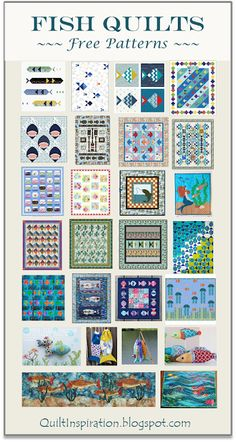 Fish Quilt Pattern, Easy Quilt Patterns, Ocean Quilt, Bubble Quilt, Sewing Machine Quilting, The Quilt Show, Quilted Gifts, House Quilts, Quilt Festival
