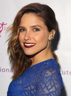 Sophia Bush brought the drama to the National Dance Institute Gala with a sideswept hairstyle and vampy aubergine lip color.