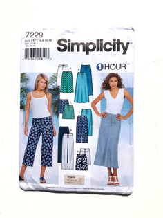 It's Simplicity 7229 Women's Skirt Pants Pattern by DonnaDesigned