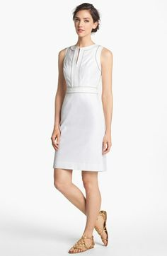 Tory Burch 'Zoie' Stretch Cotton Sheath Dress available at #Nordstrom