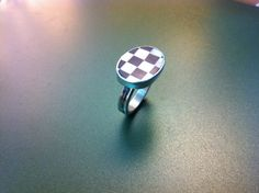 Funky black and white sterling silver ring by ArchipelagosBreeze, €58.00