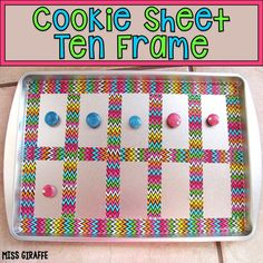Click for directions on how to make easy ten frames and a whole lot of other great number sense ideas!!
