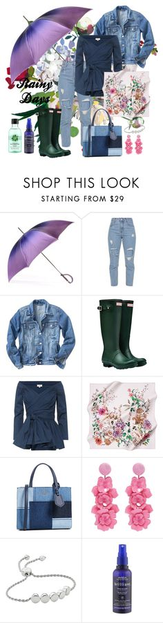 """Rainy Days"" by kathrina1yana2jemma3cloe4 ❤ liked on Polyvore featuring Black, Hunter, Isa Arfen, Kate Spade, Oscar de la Renta, Monica Vinader, Aveda, Fuji, rainydayoutfit and coolsummer"