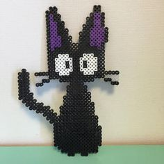 Jiji's cat perler beads by Pink