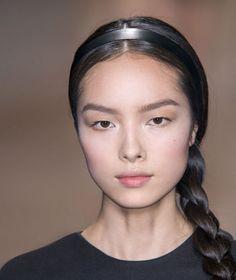 Fei Fei Sun--sleek side braid with a headband