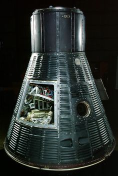 """May 5th 1961: Alan Shepard became the first American in space in this Mercury capsule. He named it """"Freedom 7,"""" the number signifying the seven Mercury astronauts. Launched on a Redstone rocket, Shepard and his capsule reached an altitude of 116 miles (186 kilometers). The suborbital flight lasted 15 minutes and 28 seconds."""
