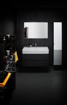 Function as decoration: Laufen presents the Val SaphirKeramik collection by Konstantin Grcic Simple Aesthetic, Bathroom Collections, Bathroom Inspiration, Bathroom Ideas, Bathroom Furniture, Double Vanity, Bathtub, Mirror, Storage