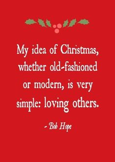 My idea of Christmas ... | Heartwarming Celebrity Christmas Quotes | The Stir