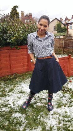 Awesome Hollyburn skirt in dark denim