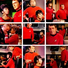 StarTrek- Uhura & Scotty, only Red Shirts to never die! (Actually, Scotty was killed by NOMAD and later repaired)