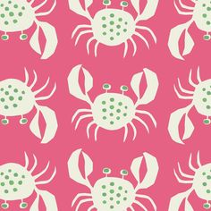 ⚓Jenny Lee-Katz - Crancod fabric pink.  Love for bathroom or laundry room or office!