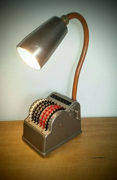 AMC77 Comptometer lamp (steampunk industrial)