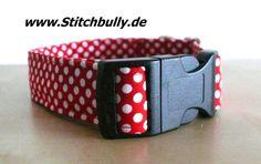 #101 Halsband Gassi Punkte Hund Sterne M/L Retro von stitchbully.de auf DaWanda.com