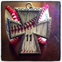 Cross baseball pendant with bling and number by GetYourBlingOn Lockhart Lockhart Osborne Angels Baseball, Baseball Pictures, Baseball Stuff, Sports Pictures, Baseball Mom, Teen Crafts, Crafts For Teens, Sewing Crafts, Baseball Jewelry
