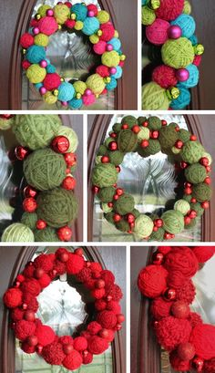 {Christmas Wreaths} These are beautiful.