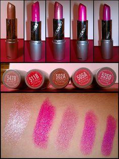 Wet 'N' Wild Lipstick Swatches