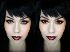PetraLovelyHair: FOTD - čertovský makeup trochu jinak | ☻ Devil makeup ☻
