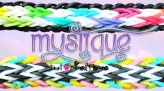 NEW Mystique Rainbow Loom Bracelet Tutorial Rainbow Loom Princess, Rainbow Loom Bands, Rainbow Loom Charms, Rainbow Loom Bracelets, Rainbow Loom Tutorials, Rainbow Loom Patterns, Rainbow Loom Creations, Loom Love, Fun Loom