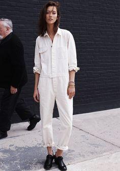 Le Fashion Blog 5 Ways To Wear A White Jumpsuit Alana Zimmer Model Off Duty Street Style Via Madewell 4 photo Le-Fashion-Blog-5-Ways-To-Wear...