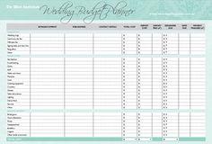 tools - wedding budget planner