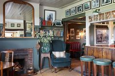 We take a look around the cosy interiors of this English country pub The Pheasant Inn Berkshire in Travel on HOUSE - design food and travel by House & Garden Pub Design, House Design, Pub Interior, Cosy Interior, Interior Design, The Pheasant Inn, Seaside Inn, Pub Decor, Home Decor